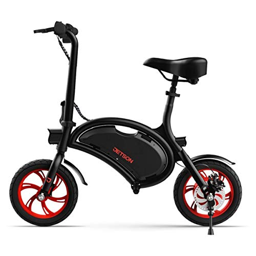 Jetson Bolt Folding Electric Bike with LCD Display, Lightweight & Portable with Carrying Handle, Travel Up to 15 Miles, Max Speed Up to 15.5 MPH, Black