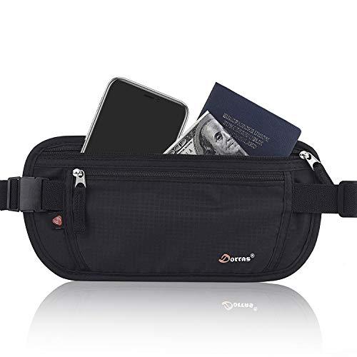 Money Belt, Hidden Passport Holder, Travel Wallet With RFID Blocking - Fanny Pack Running Belt for Women Men