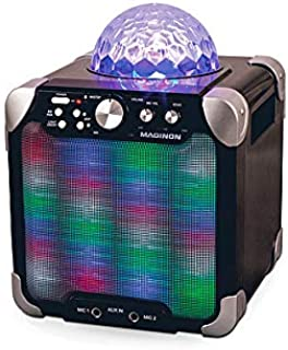 Maginon Party Speaker (PS-15 E) | Portable Speaker System with Built-in Light Show Perfect for Dance Parties and Karaoke