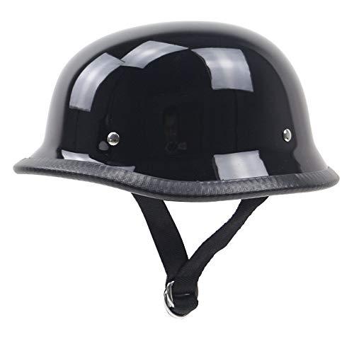 SXC Motorrad Harley -Halb offener Helm Jet-Helm Roller Retro Mofa Scooter-Helm Chopper Motorrad-Helm, DOT/ECE-Zulassung für Männer und Frauen, Geeignet für Kopfumfang 53-61 cm