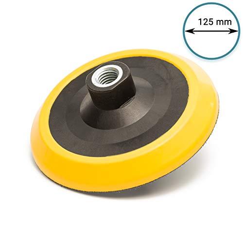 100 Mm Filettatura M14 X 2-Cuscinetto da Smerigliatura per Lucidare con Rivestimento in Velcro con Chiusura in Velcro in Eva 4 25 Mm Strato Base