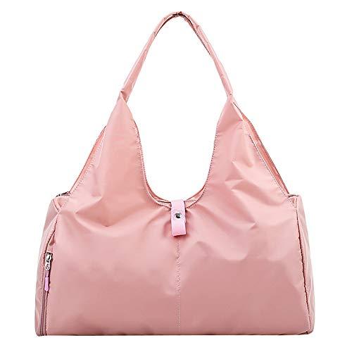 Liseng Bolsa de deporte para fitness Oxford Gro?E para mujer, esterilla de yoga, impermeable, color rosa