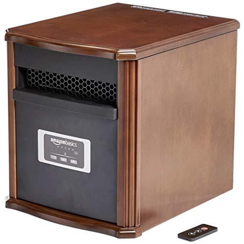 AmazonBasics Portable Eco-Smart Space Heater - Wood (Renewed)