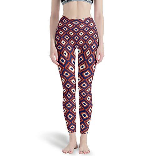 XJJ88 – Geometrische Hosen eng an den Knöcheln, Dehnbare Hose, Muster Ethnische Muster, Bedruckte Leggings für Mädchen M weiß