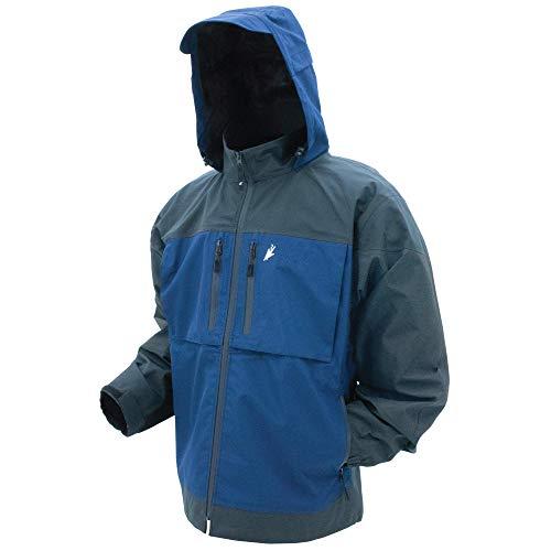 FROGG TOGGS Men's Anura HD Waterproof Rain Jacket, Dust Blue/Carbon, XX-Large