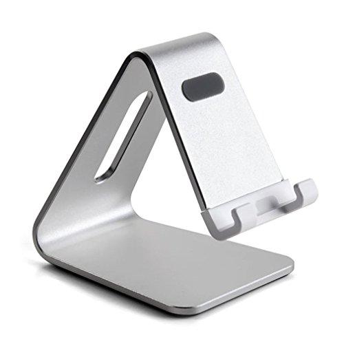 AP-4S nieuwe aluminium mobiele telefoon tablet houder draagbare smartphone pad standaard houder beugel bureau tablet dock zilver