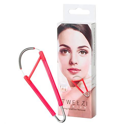 Tweezi Ressort épilation du visage pour femme Élimine les poils de la lèvre supérieure, du menton, des joues, du cou. Facile à utiliser avec une seule main.