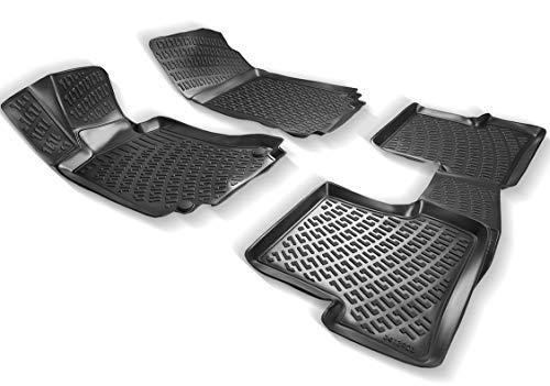 Elmasline Design 3D Gummimatten Set für Mercedes C-Klasse W203 Baujahr 2000-2007| Extra hoher 5cm Rand