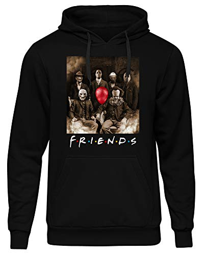Uglyshirt89 Friends Horror Männer Herren Kapuzenpullover | Horror Halloween Nightmare Freddy Michael Myers Jason Clown (XL)