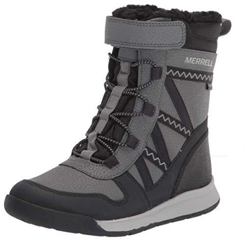 Merrell Snow Crush 2.0 Waterproof Boot, Black/Grey, 7 US Unisex Big Kid