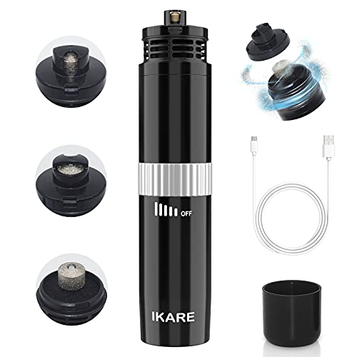 IKARE Dog Nail Grinder, Upgraded Dog Nail Trimmer with Nail Dust Collector, Stepless Speed Professional Pet Nail Trimmer with 20h Working Time, for Large Medium Small Dogs and Cats
