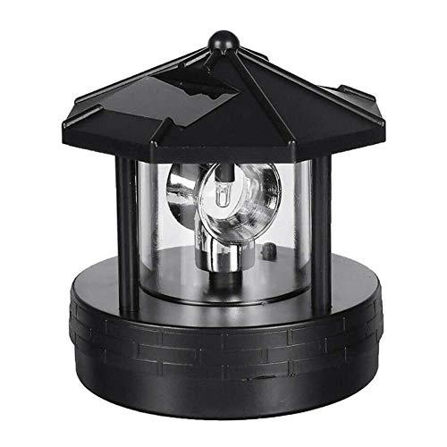 Solarbetriebener Leuchtturm, 360 Grad Drehbare Lampe LED Solar Gartenleuchten Wasserdichtes Leuchtfeuer Geeignete Außenverzierung Dekoration Für Rasen/Patio/Teich