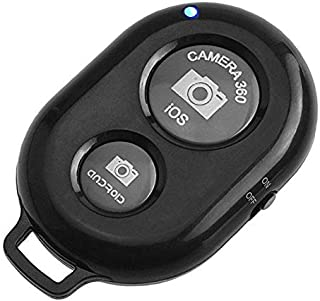Bluetooth Remote Control Camera Shutter and Wireless Selfie Button Clicker, Compatible with iPhone, iPad, Android, Samsun...