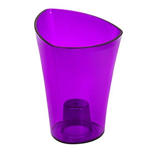 Lamela Wenus Blumentopf 20x 14.5H cm violett transparent