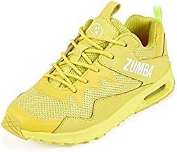 Zumba Air Classic Comfy Gym Shoes Athletic Dance Fitness Workout Shoes for Women, Yellow 0, 7.5