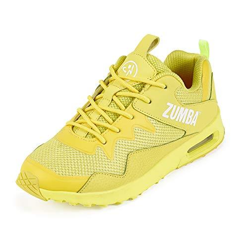 Zumba Active Air Classic Zapatillas Deportivas con Estilo de Fitness Zapatillas de Mujer de Baile, Yellow 0, 45 EU