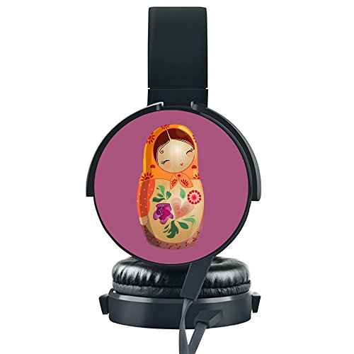 Lowest Prices! Cute Doll Wired Headset,INmark Fordable Headset [Noise Canceling] [Hands-Free Phone C...