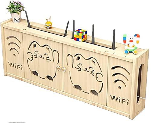 WOAIAI Router de almacenamiento de enrutador inalámbrico Rack,Caja de almacenamiento de enrutador Wifi montada en la pared,Enchufe blindaje alambre acabado caja