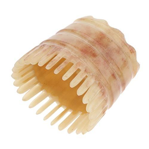 Peine de cuerno Cómoda de lavado Cuerno masajeador peine del pelo del cuero cabelludo Jefe de masaje cepillo de limpieza Clean friega el cepillo de pelo cepillo champú práctico de peluquería Suministr