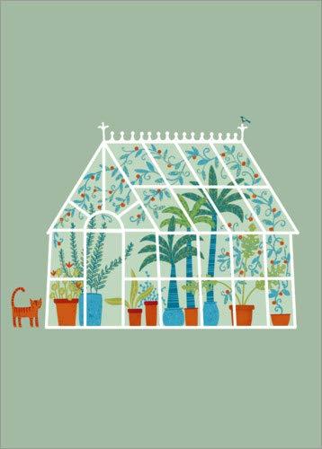 Poster 50 x 70 cm: Glashaus von NIC Squirrell - hochwertiger Kunstdruck, neues Kunstposter