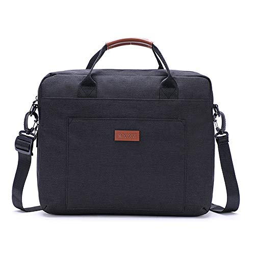 Men's Messenger Briefcase Laptop Travel Briefcase With Luggage Strap Shoulder Bag Business Messenger Briefcases Fits Laptop Computer Tablet Bag For Men And Women For men