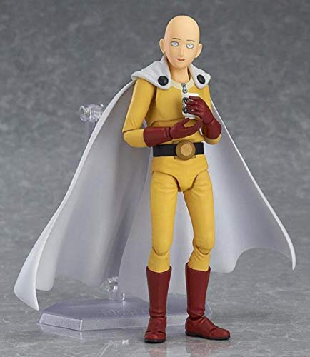 ONE PUNCH-MAN Figure 16cm - Saitama teacher PVC Action Figure, With cloak Statue Model Figure, Cute Doll Desktop Decoration, Anime Character Collection