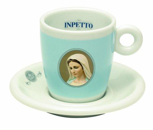 INPETTO Cappuccinotasse mit Untertasse - 2 Stück