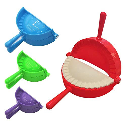 Dumpling Maker, 4 Pack Empanada Maker Press for Making Pies, Dumplings, Wontons, Pot Stickers, Etc (3/3.74/4.9/6 in)