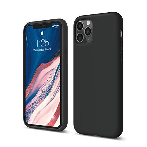 """elago Silicona Líquida Funda Compatible con iPhone 11 Pro (5.8""""), Silicona Premium, Protección Funda Protectora 3 Tapas Estructura (Negro)"""