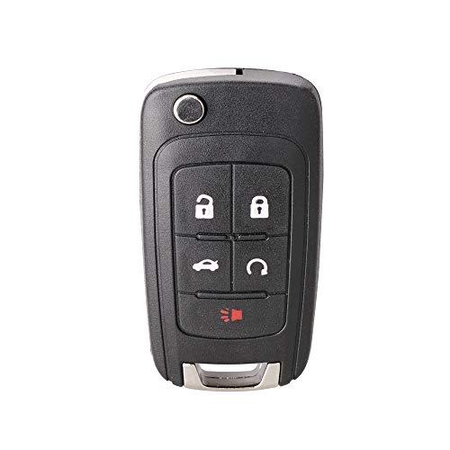 Key Fob fits 2010-2017 Buick Allure Encore Lacrosse Regal Verano/Chevy Camaro Cruze Equinox Impala Malibu Sonic/GMC Terrain Keyless Entry Remote Flip 2010 2011 2012 2013 2014 2015 2016 2017