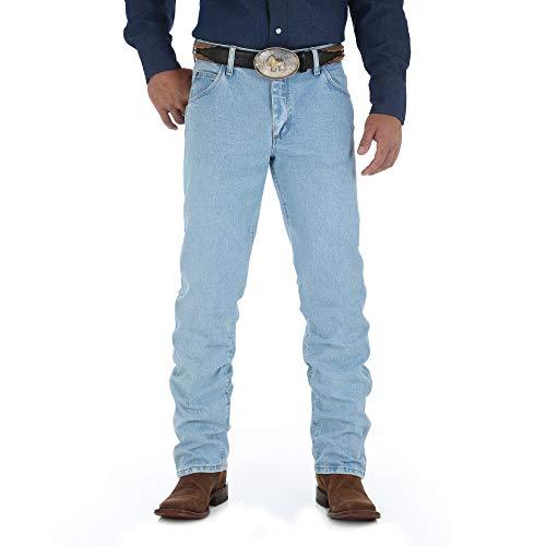 Wrangler Men's Premium Performance Cowboy Cut Regular Fit Jean, Bleach Wash, 29W x 32L