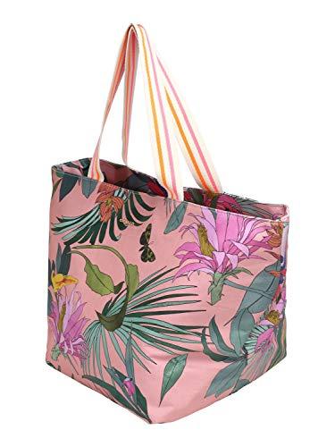 CODELLO Damen Canvas-Shopper mit coolem Tropical Print