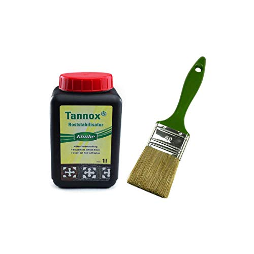 Malerversand Set: 1x Kluthe Tannox 1 Liter + Lasurpinsel 70mm
