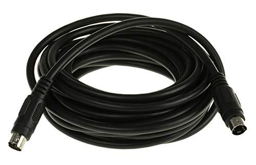 S-Video Kabel 5m Schwarz 4-poliger Mini-DIN-Stecker 4-poliger Mini-DIN-Stecker Mini-DIN, 4-polig Mini-DIN, 4-polig