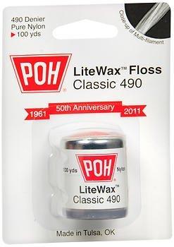 POH LiteWax Floss Classic 490 - 100 yds Each, Pack of 6