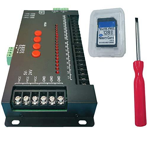 NZYMD Programmierbare LED Kontrolleinheit Regler 5-24V Monochrom-Controller mit SD-farbigem Sprungsteuerstrom für LED
