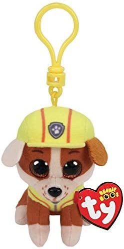 T Y Ty Paw Patrol RUBBLE Bulldog dog clip product image