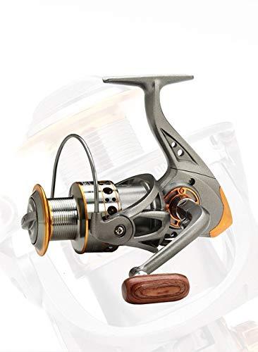 ZHYLing Carrete de la Pesca 13 Eje Full Metal Copa Hilo de Pescar Pesca Spinning Wheel Carrete Mar Rod Carrete de Pesca Artes de Pesca Accesorios (Color : Grey Gold, Spool Capacity : 1000 Series)