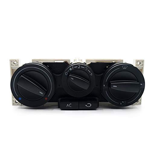 Schalterknopf Knopf AC Klimaanlage Klimaanlage Schalter-Panel/Fit for VW/Fit for Passat B5 / Fit for Bora/Fit for Golf 4 MK4 1998-2004 (Color : Black)