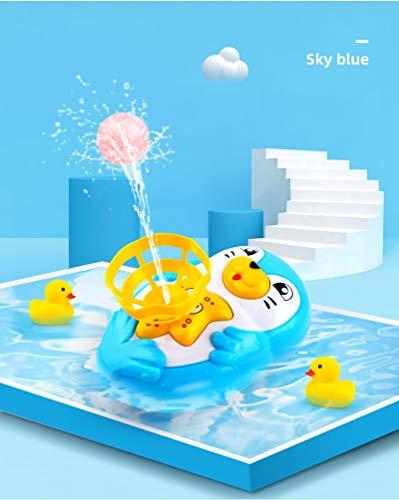 Juego de pingüinos de Dibujos Animados para Baby Shower con Spray de Agua para Que el baño del bebé ya no Sea Aburrido, Azul, Pulpo en Spray de Agua, Adecuado para niños y niñas (Paquete de 6)