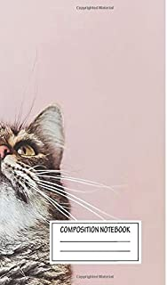 Notebook: Beautiful Cat Looking Up , Journal for Writing, Size 6