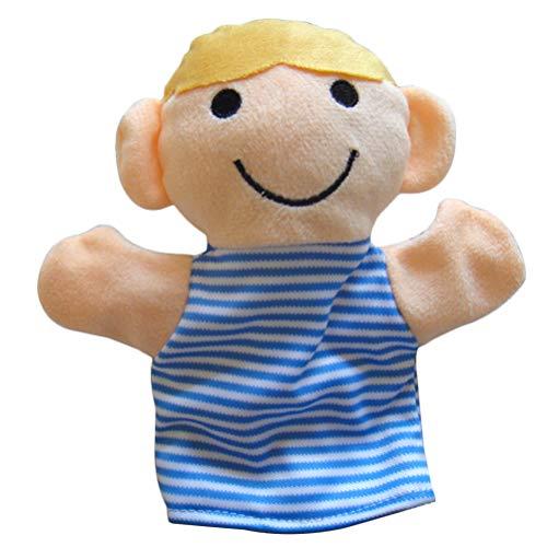 YeahiBaby Marionetas de Mano Felpa Suave Chico Lindo Marionetas Familiares para niños Bebés pequeños Juego imaginativo Narración de niños Enseñanza Juego de Roles Preescolar 25 cm