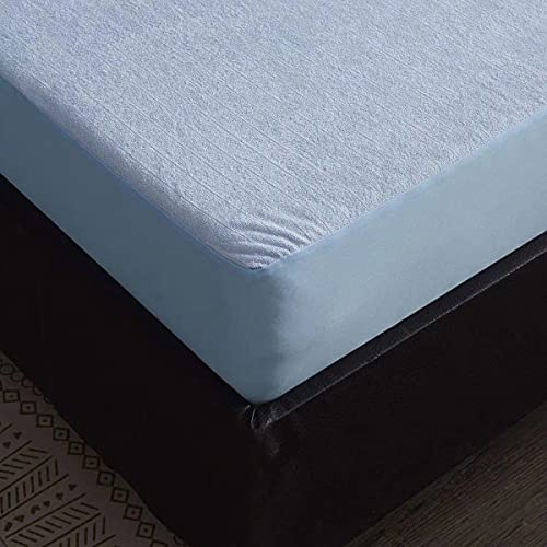 LINGBD Mattress Cover Bedding Coprimaterasso Trapuntato - Proteggi Materasso Topper Copri Materassi Proteggi Materasso, Super Morbido Altamente Traspirante,Blu,150 * 200+25