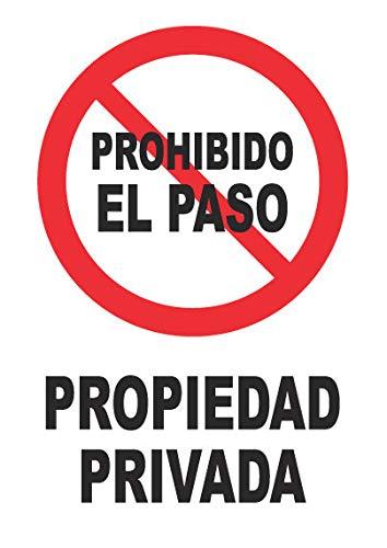 Señal propiedad privada – PVC 0,7mm – 21 x 30 cm –...