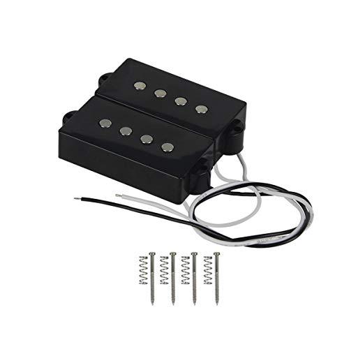 IKN Open Style Standard Split P Bass Pickup Set Cerámica 7.5-8.5K para estilo de bajo de precisión de 4 cuerdas