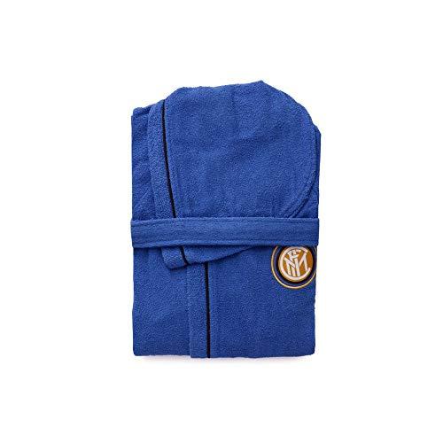 Inter Accappatoio, 100% Cotone, Azzurro, 12-14 Anni