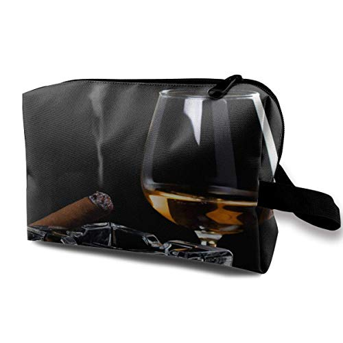 Whiskey Cigar Funny Pattern Tragbare Reisetaschen Lage Kosmetische Packtasche mit Reißverschluss für Reisewürfel Set für Reisen