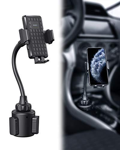 AUKEY Supporto Cellulare Auto Supporto per Tazza Auto Collo di Flessibile e Regolabile 360 Gradi Universale per iPhone 12/11 / X / 8/7, Samsung S9 / 8/7, Xiaomi, Huawei e GPS Dispositivi