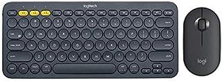 Logitech K380 Wireless Bluetooth Keyboard and Mouse Set Keyboard Mute Keyboard and Mouse Set K380 Black + Pebble Black,Bla...