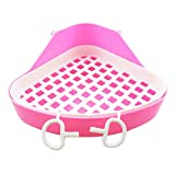 Hamster Litter Tray,Pet Corner Toilet Potty for Gerbil Chinchilla Rats Mice Rabbit Guinea Pig Ferret Small Animals,Pink